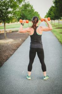 Rachel Flanagan Lifting Weights